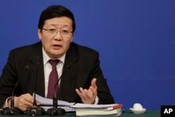 中国财政部长楼继伟在记者会上讲话(2016年3月7日)