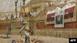Các võ sĩ giác đấu chuyên nghiệp giúp khán giả giải trí trong những trận đánh nhau giữa họ hay với thú vật.