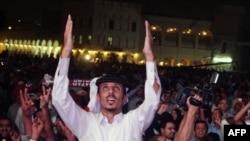 Niềm hân hoan tại Doha khi Qatar được FIFA trao cho quyền đăng cai World Cup 2022 vào ngày 2 tháng 12 năm 2010.