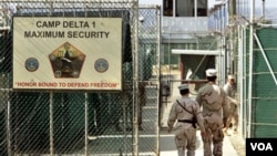 Kamp tahanan tersangka teroris di Guantanamo, Kuba (foto: dok).