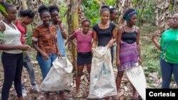 Raparigas a receber capacitação em São Tomé e Príncipe
