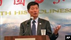 藏人行政中央司政洛桑森格(资料照片)