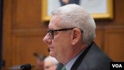 美国国会众议院军委会成员米切尔(Representative Paul Mitchell)(美国之音黎堡2020年3月10日摄)