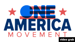 """""""一個美國運動""""One America Movement (臉書網頁截圖)"""