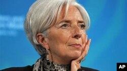 国际货币基金组织的总裁拉加德4月20日在华盛顿举行的IMF和世界银行春季会议上
