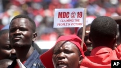Supporters of MDC Leader Nelson Chamisa Zimbabwe Opposition Leader @ 19th anniversary
