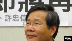 台湾在野台联党立委 许忠信(美国之音张永泰拍摄)