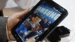 Samsung Galaxy tablet, produksi Samsung Electronics (foto: dok). Samsung menjual 16,6 juta tablet tahun lalu, masih tertinggal jauh di belakang Apple yang menjual 65,7 juta iPad.