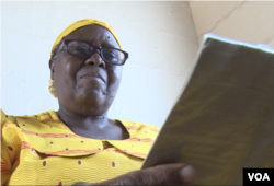 Lena Lukwani, 77, takes five different medications for diabetes and hypertension. For the past few months, prices have doubling and some of the drugs she needs are in short supply. (C.Mavhunga/VOA)