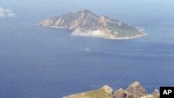 中日領土爭端﹐中國稱為釣魚島﹐日本稱作尖閣列島