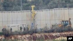 """El ejército israelí inició una operación el martes 4 de diciembre de 2018 para """"exponer y frustrar"""" los túneles construidos por la milicia de Jezbolá."""
