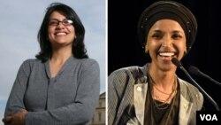 الہان عمر صومالی نژاد ہیں جبکہ رشیدہ طلیب فلسطینی نژاد امریکی ہیں۔