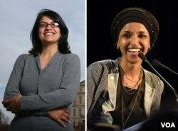 Rashida Tlaib, Ilhan Omar, hai phụ nữ Hồi giáo ra tranh cử