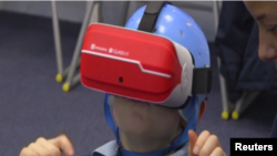 Student at Prior's Court Using a VR Headset