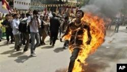 西藏再有藏人青年自焚抗議中國對少數民族西藏地區的統治。