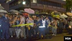 Đám đông người biểu tình ở Toyko, Nhật Bản, 6/7/2012