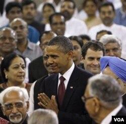 Presiden Obama ketika berkunjung ke India.