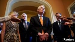 Республиканец Роб Портман объявляет о достижении договоренности по поводу инфраструктурного пакета в Сенате, 28 июля 2021 года