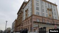 نمایی از ساختمان سفارت ایالات متحده در مسکو، پایتخت روسیه - آرشیو