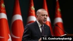 资料照片: 土耳其总统埃尔多安。