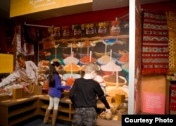 Visitors can smell the spices or fruits that are part of the exhibit on Muslim cultures, says Lizzy Martin, director of exhibit development and museum planning at the Children's Museum of Manhattan.