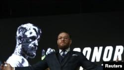 Конор Макгрегор на пресс-конференции в Москве, 24 октября 2019 года