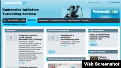 web stranica Tužilaštva kantona Tuzla
