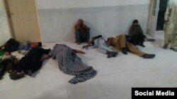 مهاجران افغان مصدوم شده در سراوان