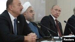 Ильхам Алиев, Хасан Роухани и Владимир Путин
