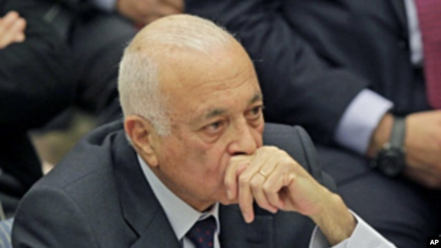 Secretary General of the Arab League Nabil Elaraby during a UN Security Council meeting about Syria, Jan. 31, 2012.