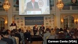 La CAF se reune en sesiones regulares una vez al año y es popular por la asistencia de importantes funcionarios de América Latina, EE.UU. y el resto del mundo.