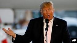 미국 대선의 공화당 경선에 출마한 도널드 트럼프 후보. (자료사진)