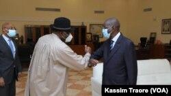 Le médiateur de la CEDEAO, Goodluck Jonathan, en visite à Bamako