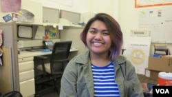 Visaka In, 17 year-old Lowell High School student, speaks to VOA about her experience growing up in Lowell as Cambodian-American children, at Lowell Community Health Center, on Thursday, September 8, 2016.