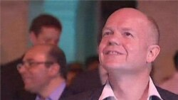 Britain's Foreign Secretary William Hague in Burma