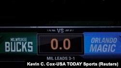 Semafor za utakmicu Milvoki - Orlando (Foto: Reuters/Kevin C. Cox-USA TODAY Sports)