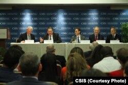 """美国战略与国际问题研究中心""""加强湄公河健康安全伙伴关系""""报告发布会。(照片来源:美国战略与国际问题研究中心)"""