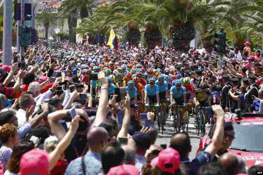 ការប្រណាំងកង់ Giro d'Italia ឬ Tour of Italy លើកទី១០០ ក្នុងជុំទីមួយបានចាប់ផ្តើមដោយចេញពីក្រុងAlghero ឆ្ពោះទៅក្រុងOlbia នៅកោះSardinia ប្រទេសអ៊ីតាលី។