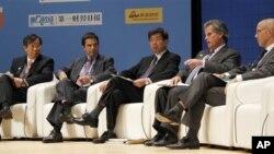 일본 도쿄에서 열리고있는 IMF-WB 연차총회에 참석한 각국 대표들