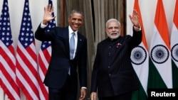 Барак Обама с премьер-министром Индии Нарендрой Моди