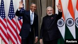 인도를 방문 중인 오바마 대통령이 25일 뉴델리에서 모디 인도 총리와 정상회담을 가졌다.