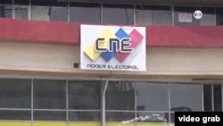 Sede del Consejo Nacional Electoral (CNE) en Caracas, Venezuela.