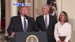 VOA60 America - President Trump announces his choice for the Supreme Court