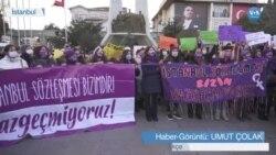 Kadınlar İstanbul Sözleşmesi Kararını Protesto Etti