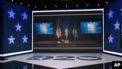 앤드루 쿠오모 미국 뉴욕 주지사가 17일 민주당 전당대회 첫 날 화상 연설을 했다.