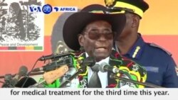 VOA60 Africa - Zimbabwe: President Robert Mugabe is in Singapore for medical treatment