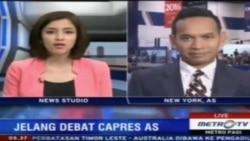 Laporan Langsung VOA untuk MetroTV: Debat Presidensial AS Pertama