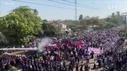 緬甸大規模示威進入第四天 警方逮捕了至少幾十人