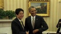 """奧巴馬和安倍晉三討論朝鮮的""""挑釁性行為"""""""