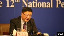 环保部长陈吉宁(资料照片)